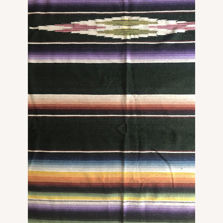Large 1950's Mexican Saltillo Serape Rug - image-3