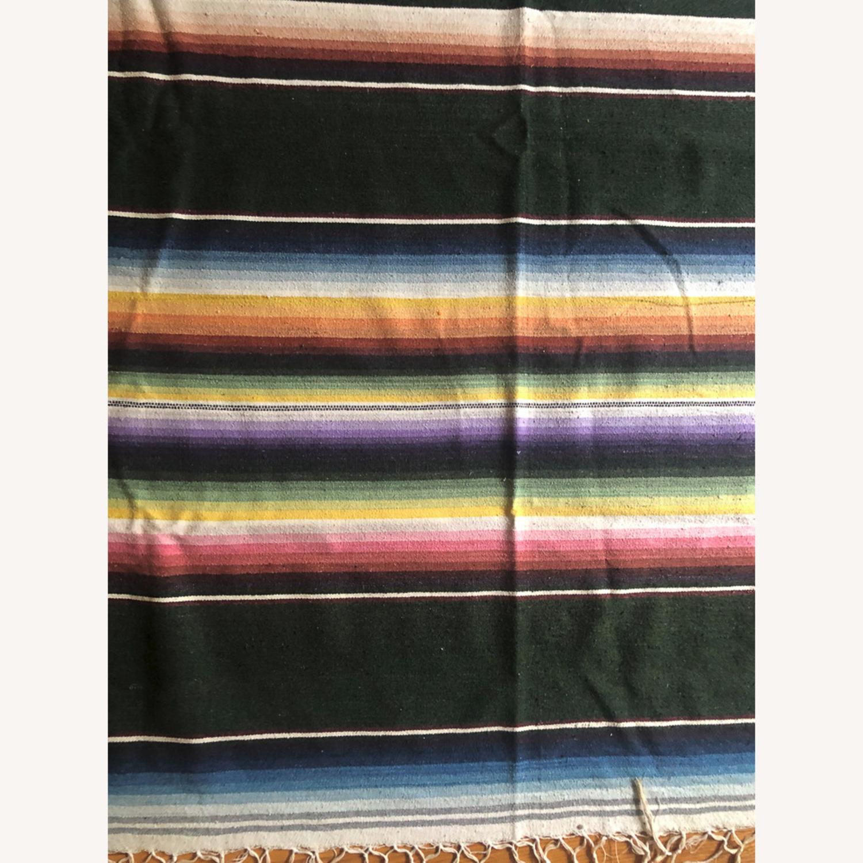 Large 1950's Mexican Saltillo Serape Rug - image-2
