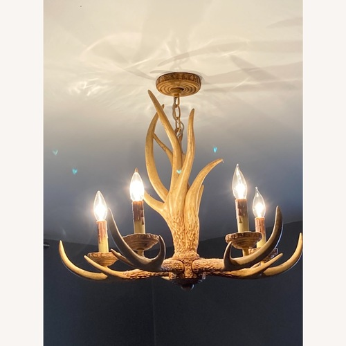 Used Faux antler chandelier for sale on AptDeco