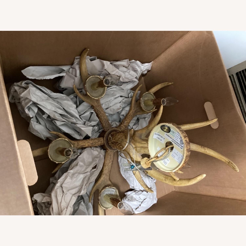 Faux antler chandelier - image-2