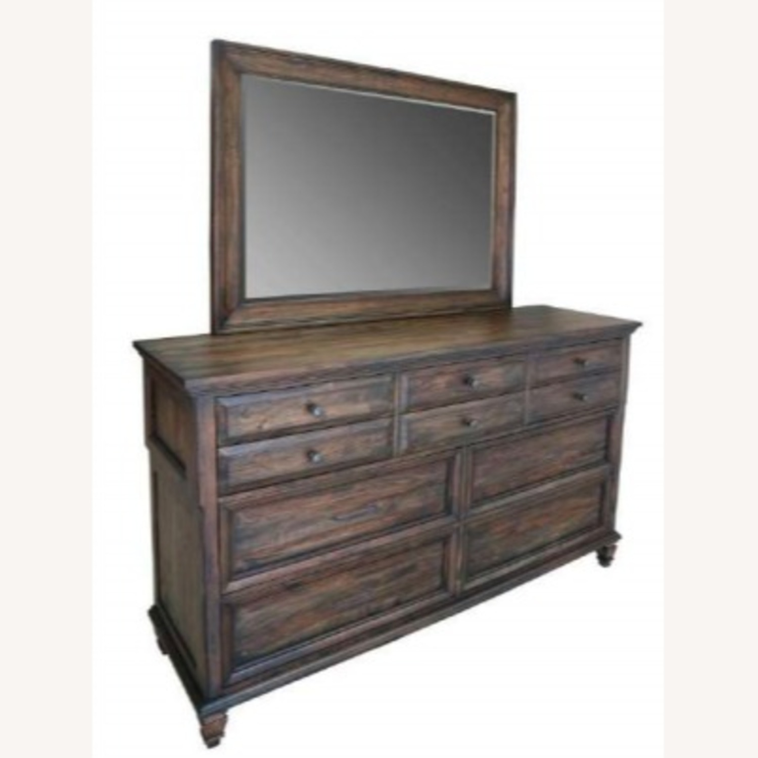 Mirror In Weathered Burnished Brown Finish - image-0