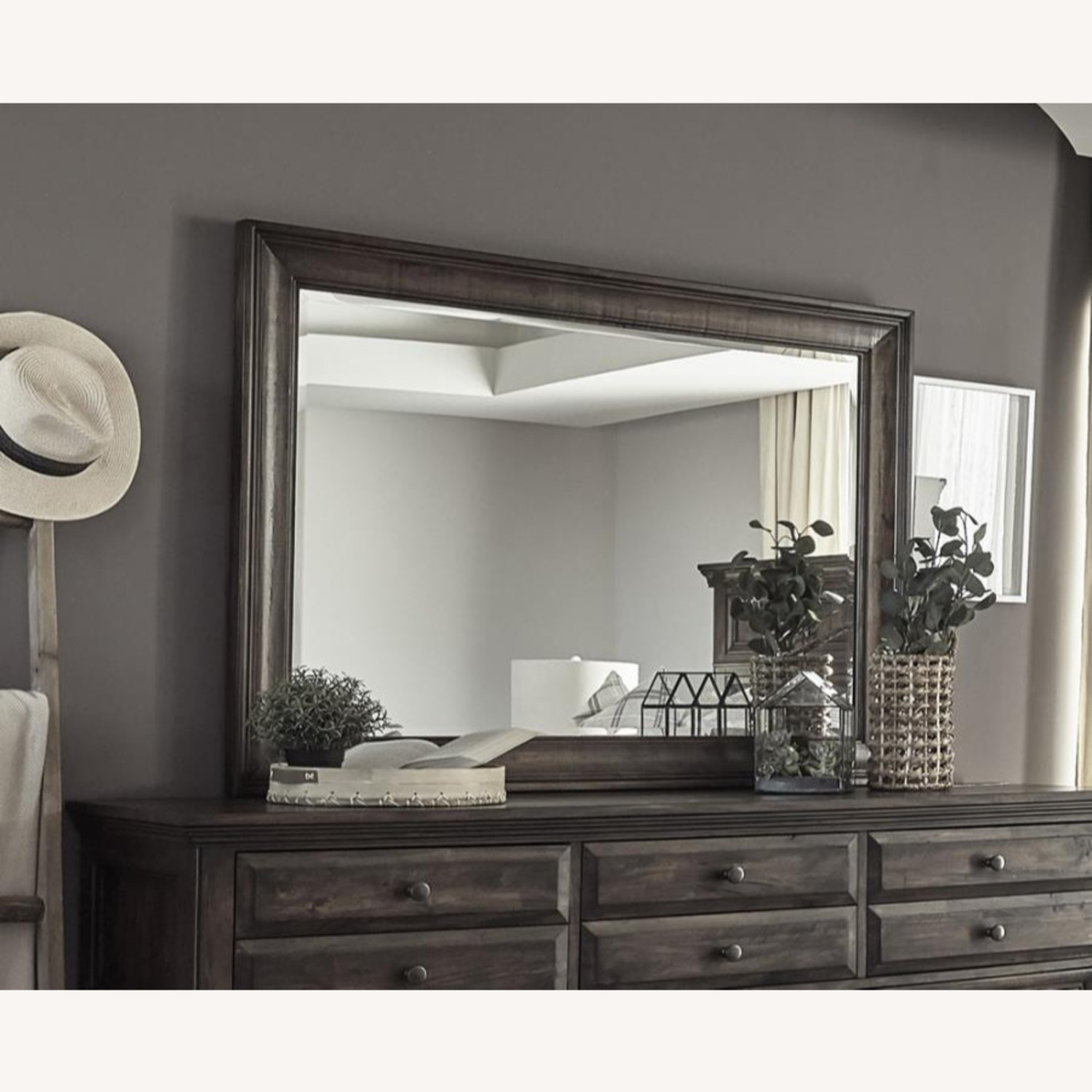 Mirror In Weathered Burnished Brown Finish - image-1