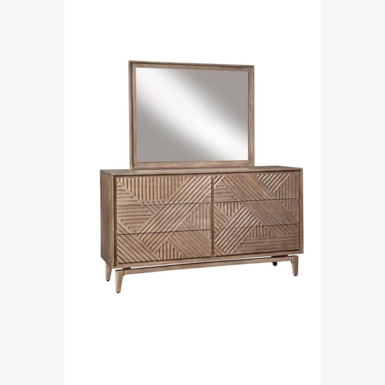 Mirror In Sandstone Frame Finish - image-1