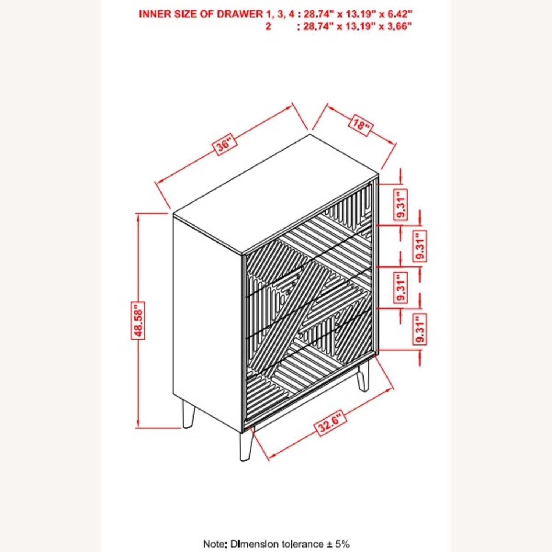 Chest In Sandstone Finish W/ Floating Wood Base - image-2