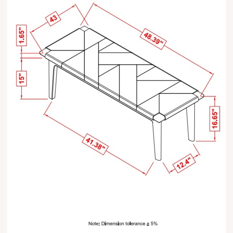 Bench In Sandstone Finish W/ Floating Wood Base - image-2