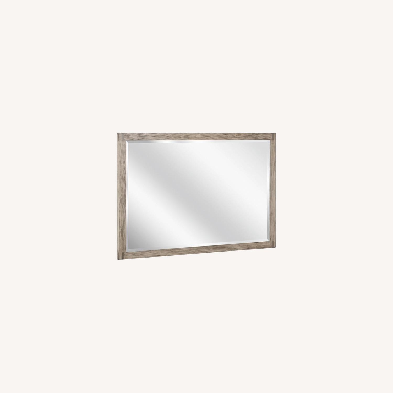 Modern Mirror In Grey Oak Finish - image-5