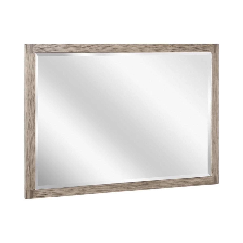 Modern Mirror In Grey Oak Finish - image-0