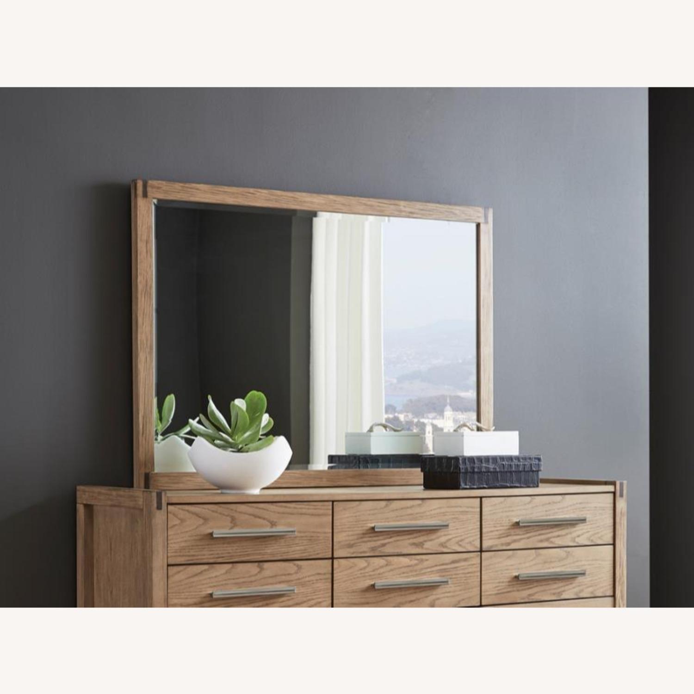 Modern Mirror In Grey Oak Finish - image-2