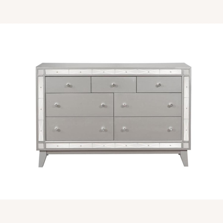 Dresser In Metallic Mercury W/ Chrome Knobs - image-1
