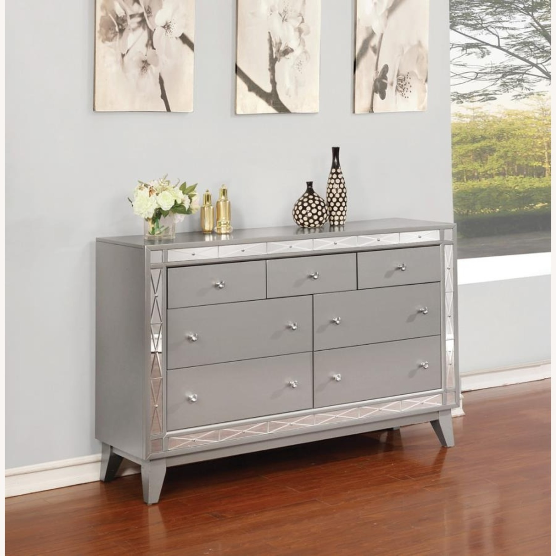 Dresser In Metallic Mercury W/ Chrome Knobs - image-5
