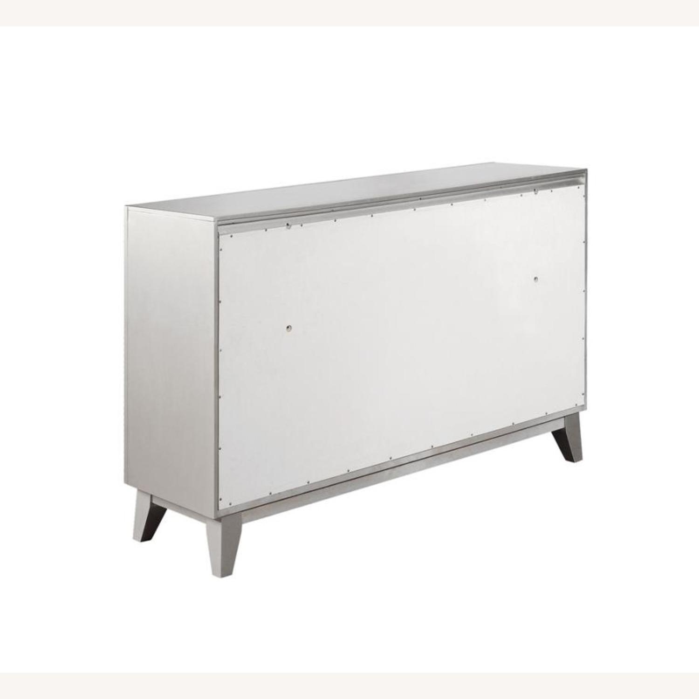 Dresser In Metallic Mercury W/ Chrome Knobs - image-4