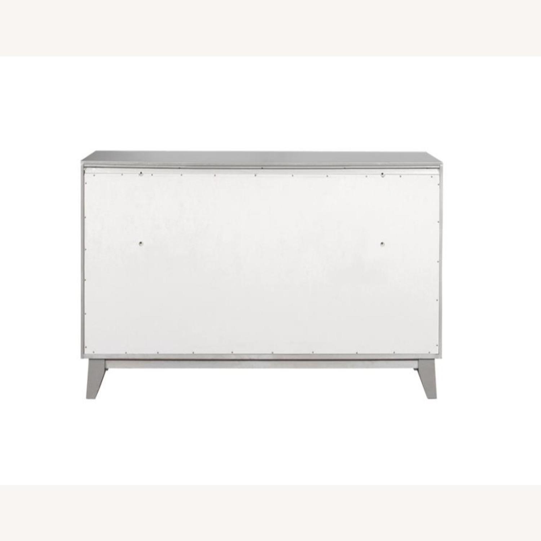 Dresser In Metallic Mercury W/ Chrome Knobs - image-3