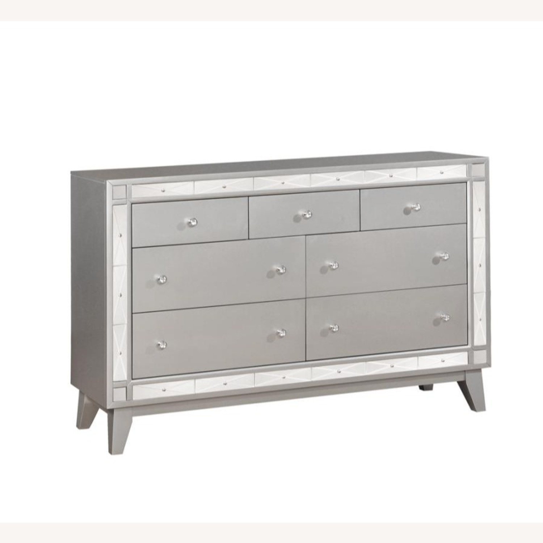 Dresser In Metallic Mercury W/ Chrome Knobs - image-0