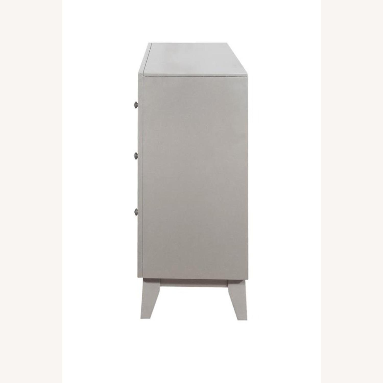 Dresser In Metallic Mercury W/ Chrome Knobs - image-2