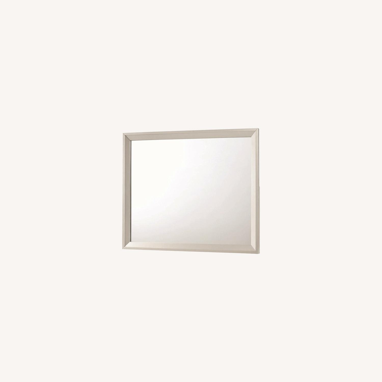 Mirror In Metallic Sterling Frame Finish - image-4