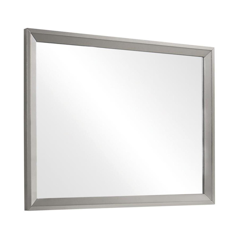 Mirror In Metallic Sterling Frame Finish - image-1