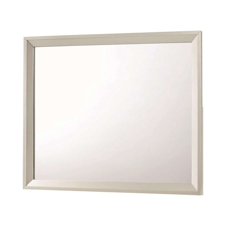 Mirror In Metallic Sterling Frame Finish - image-0