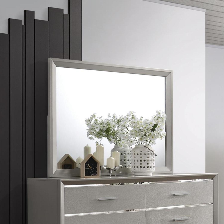 Mirror In Metallic Sterling Frame Finish - image-2