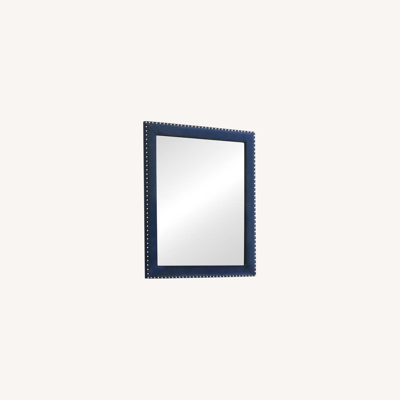 Mirror In Pacific Blue Velvet Frame Finish - image-3
