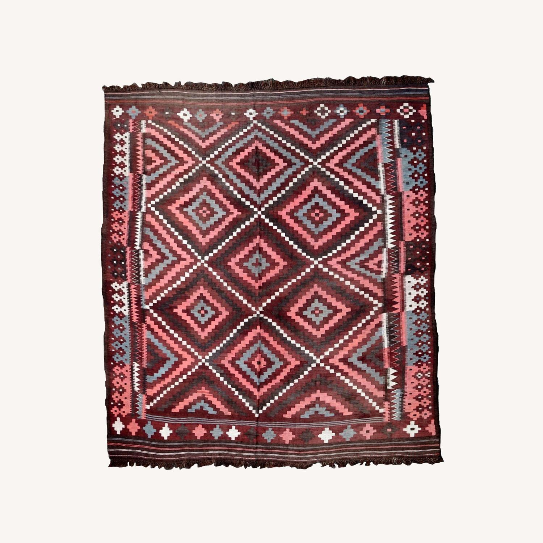 Handmade vintage Afghan kilim, 1P86 - image-0