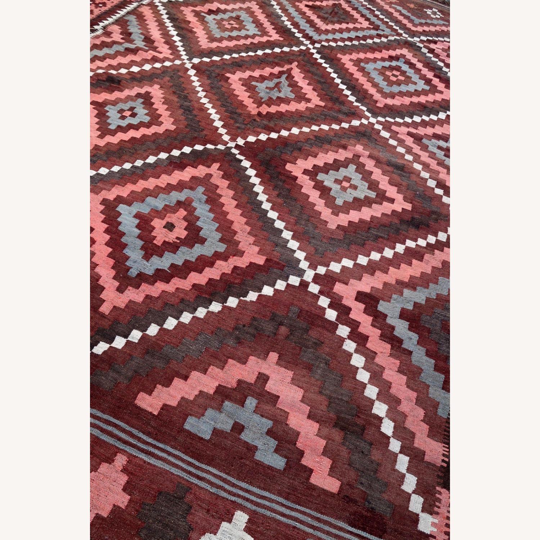 Handmade vintage Afghan kilim, 1P86 - image-4