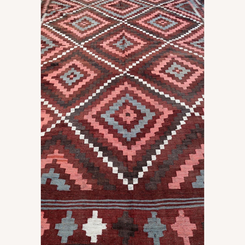 Handmade vintage Afghan kilim, 1P86 - image-3