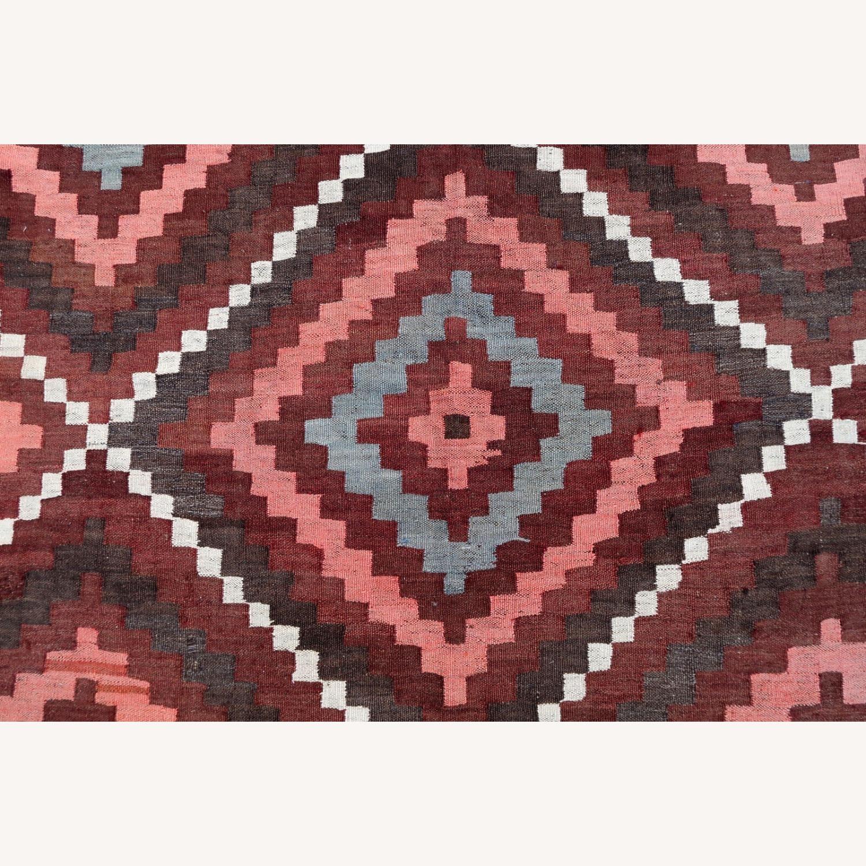 Handmade vintage Afghan kilim, 1P86 - image-6