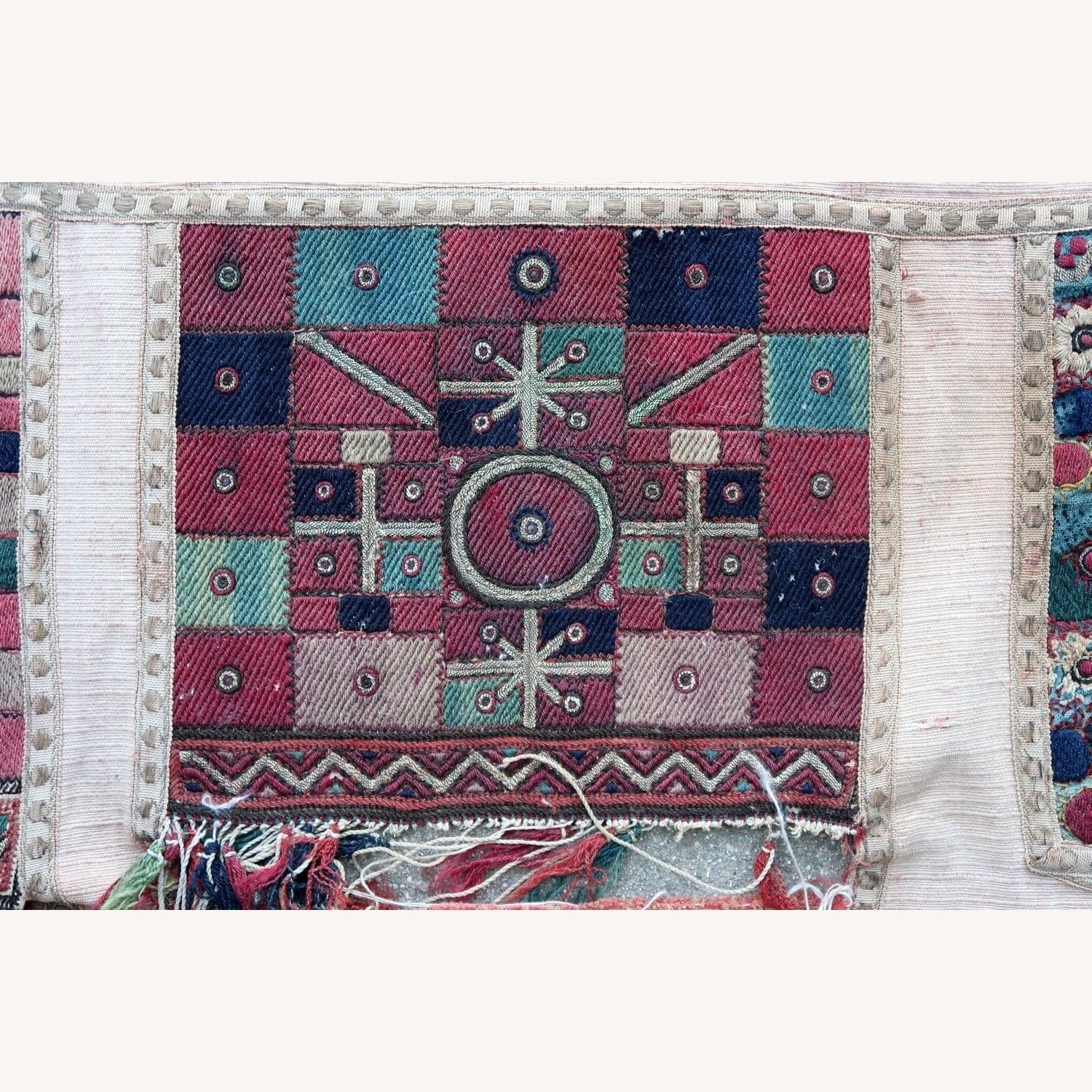 Handmade antique Greek embroidery, 1P87 - image-4