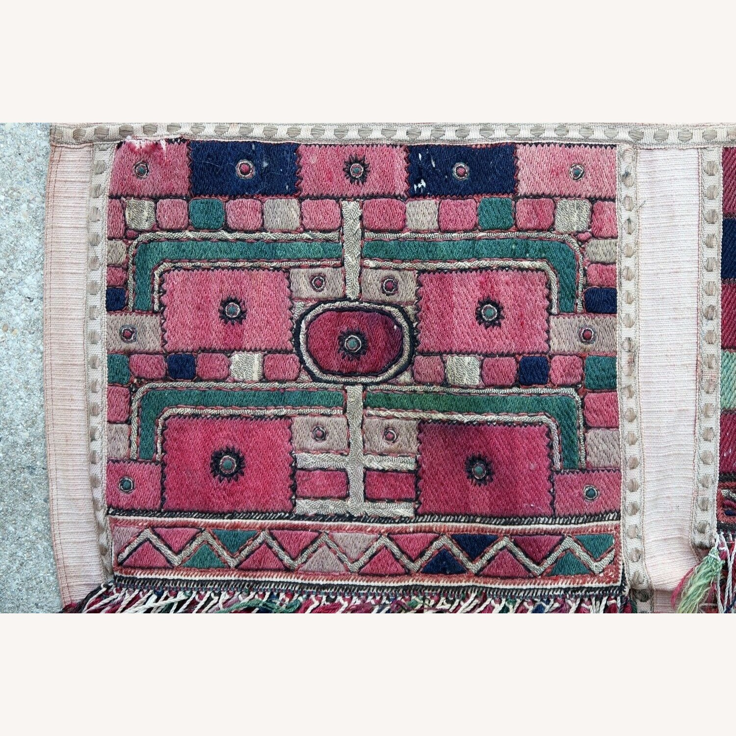 Handmade antique Greek embroidery, 1P87 - image-5