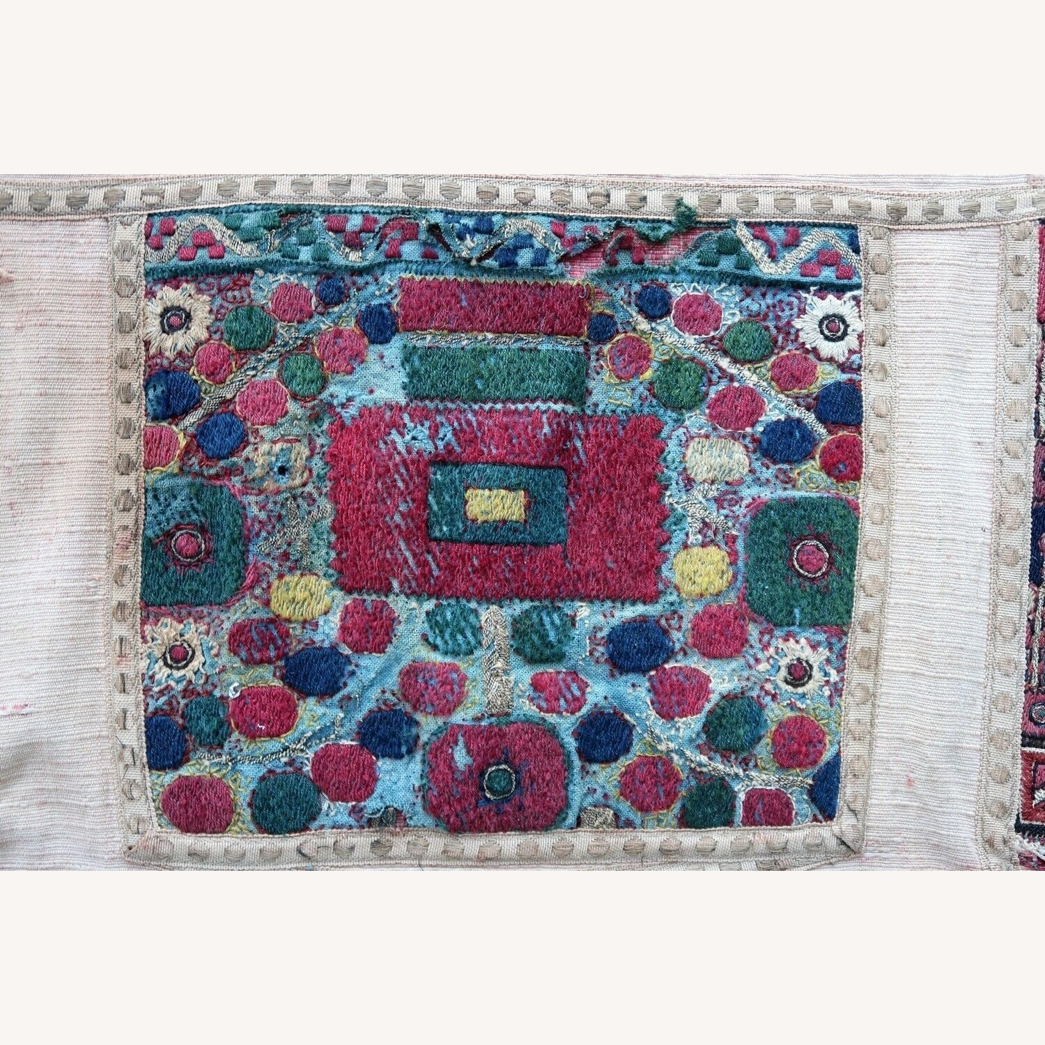 Handmade antique Greek embroidery, 1P87 - image-3