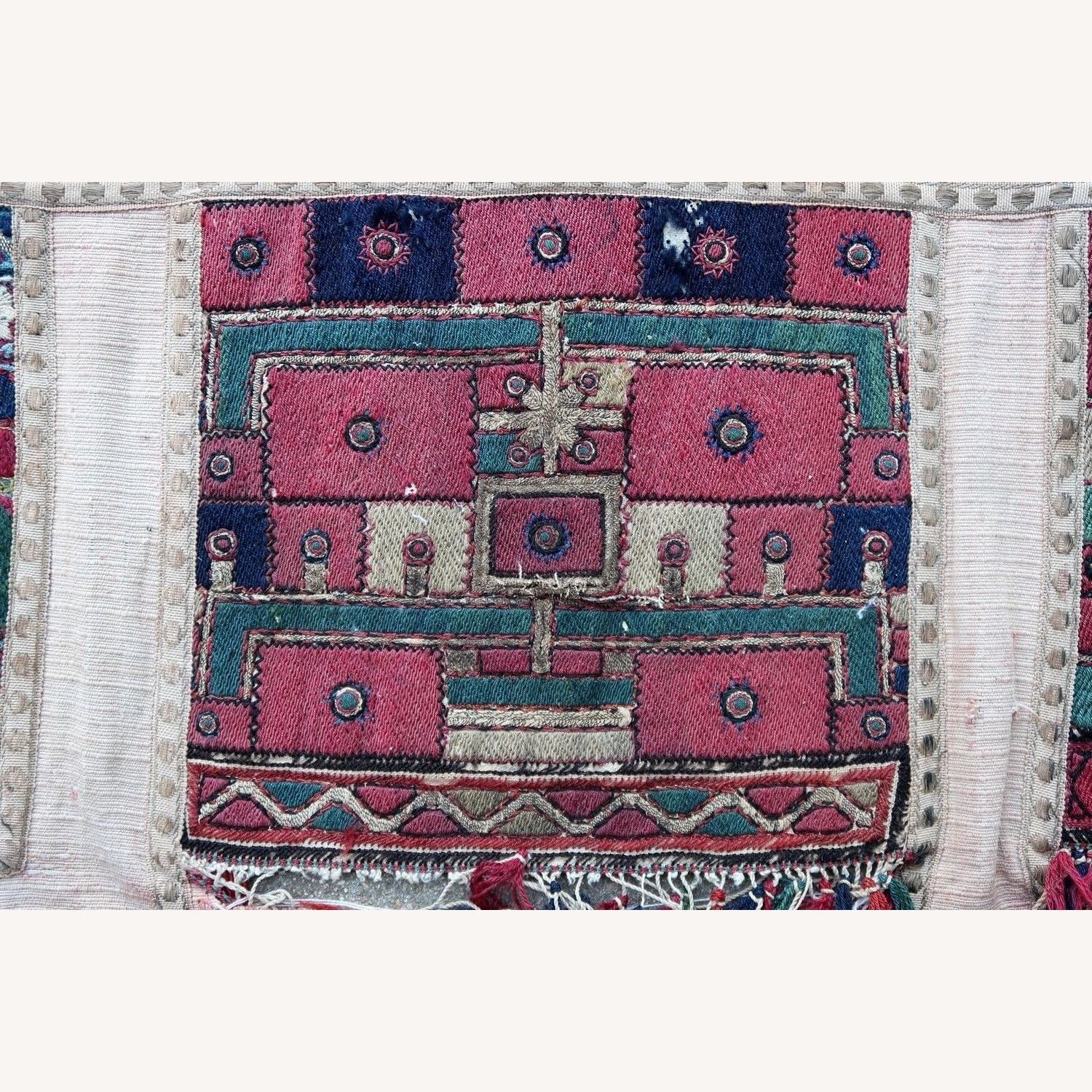 Handmade antique Greek embroidery, 1P87 - image-2