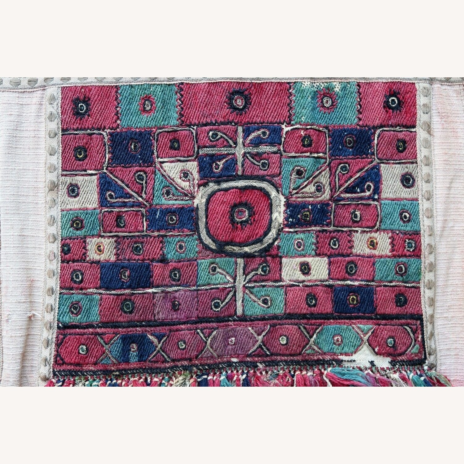 Handmade antique Greek embroidery, 1P87 - image-1