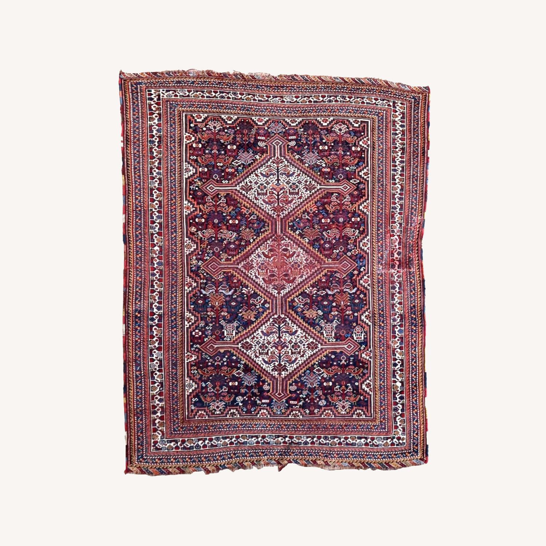 Handmade antique Persian Gashkai rug, 1P89 - image-0
