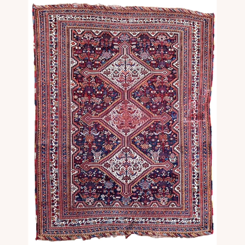 Handmade antique Persian Gashkai rug, 1P89 - image-5