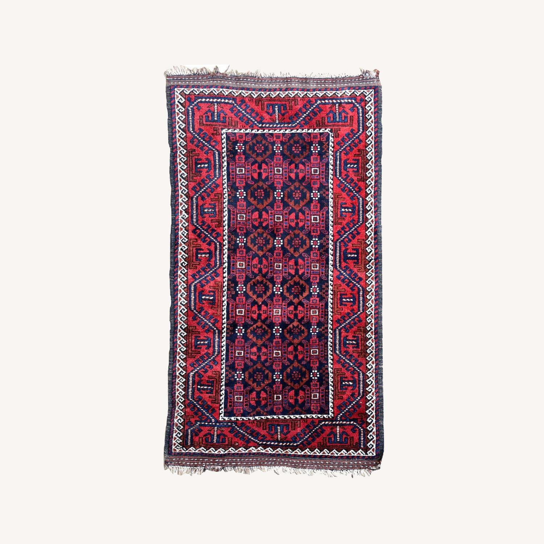 Handmade antique Afghan Baluch rug, 1P91 - image-0