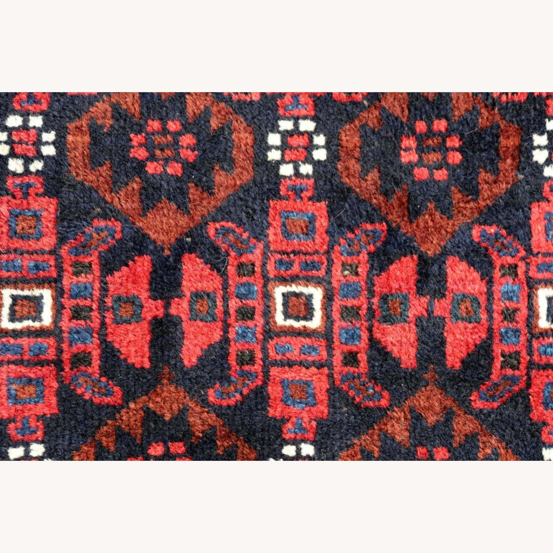 Handmade antique Afghan Baluch rug, 1P91 - image-4