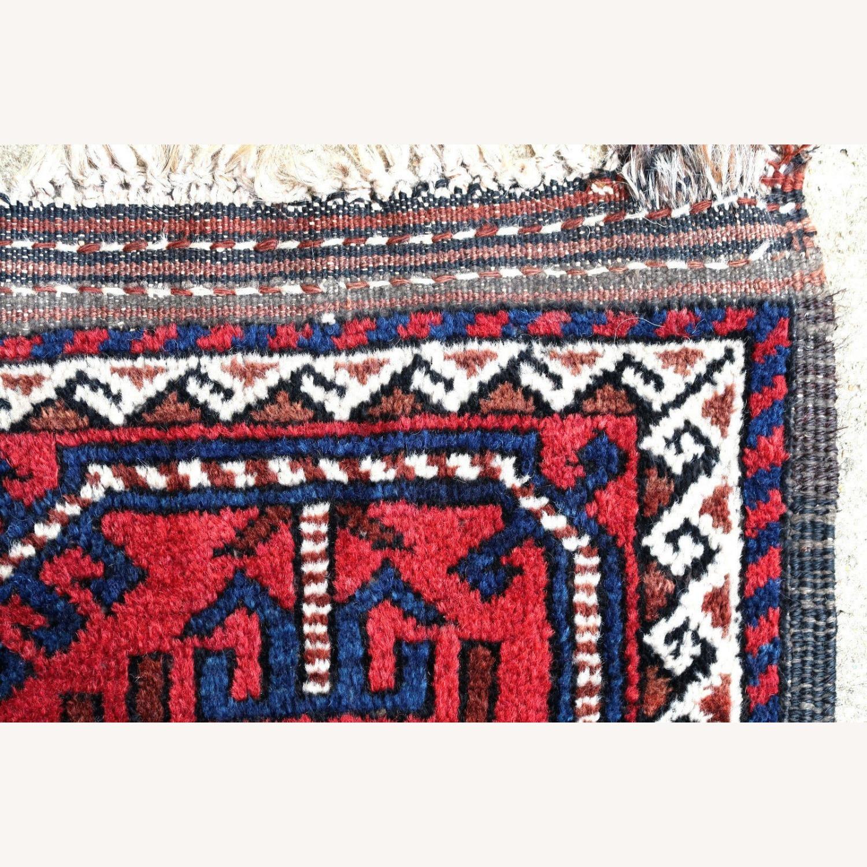Handmade antique Afghan Baluch rug, 1P91 - image-3