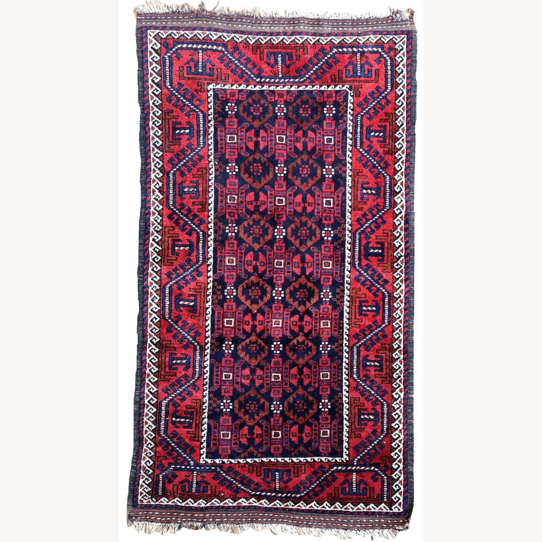 Handmade antique Afghan Baluch rug, 1P91 - image-5
