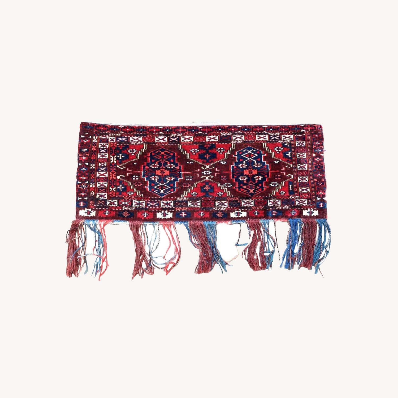 Handmade antique Turkmen Yomud torba bag, 1P93 - image-0