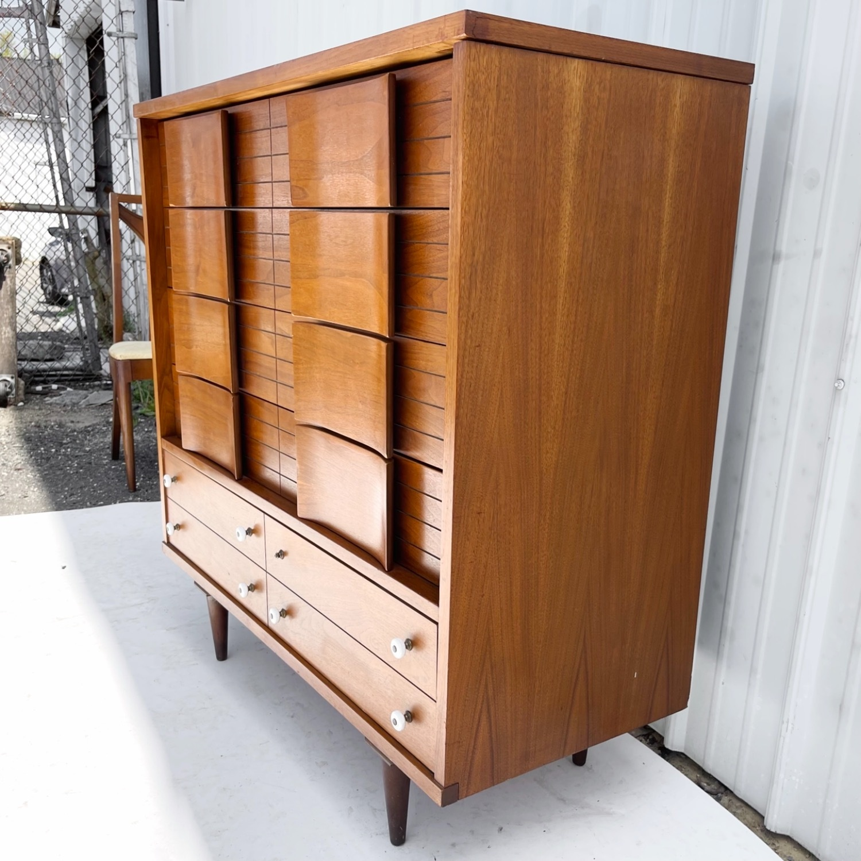 Mid-Century Modern Highboy Dresser - image-4