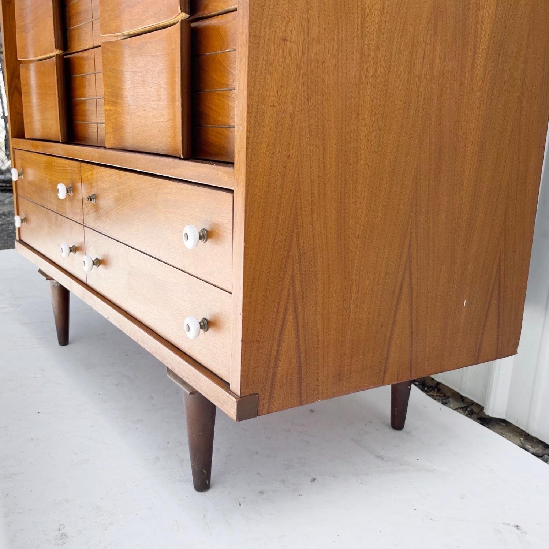 Mid-Century Modern Highboy Dresser - image-9