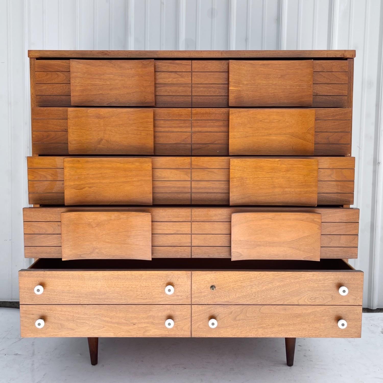 Mid-Century Modern Highboy Dresser - image-1