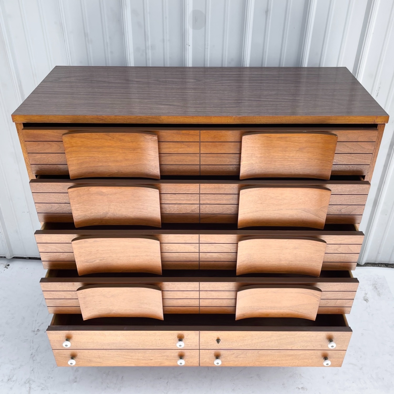 Mid-Century Modern Highboy Dresser - image-21