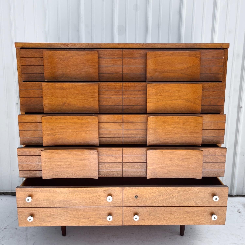 Mid-Century Modern Highboy Dresser - image-18