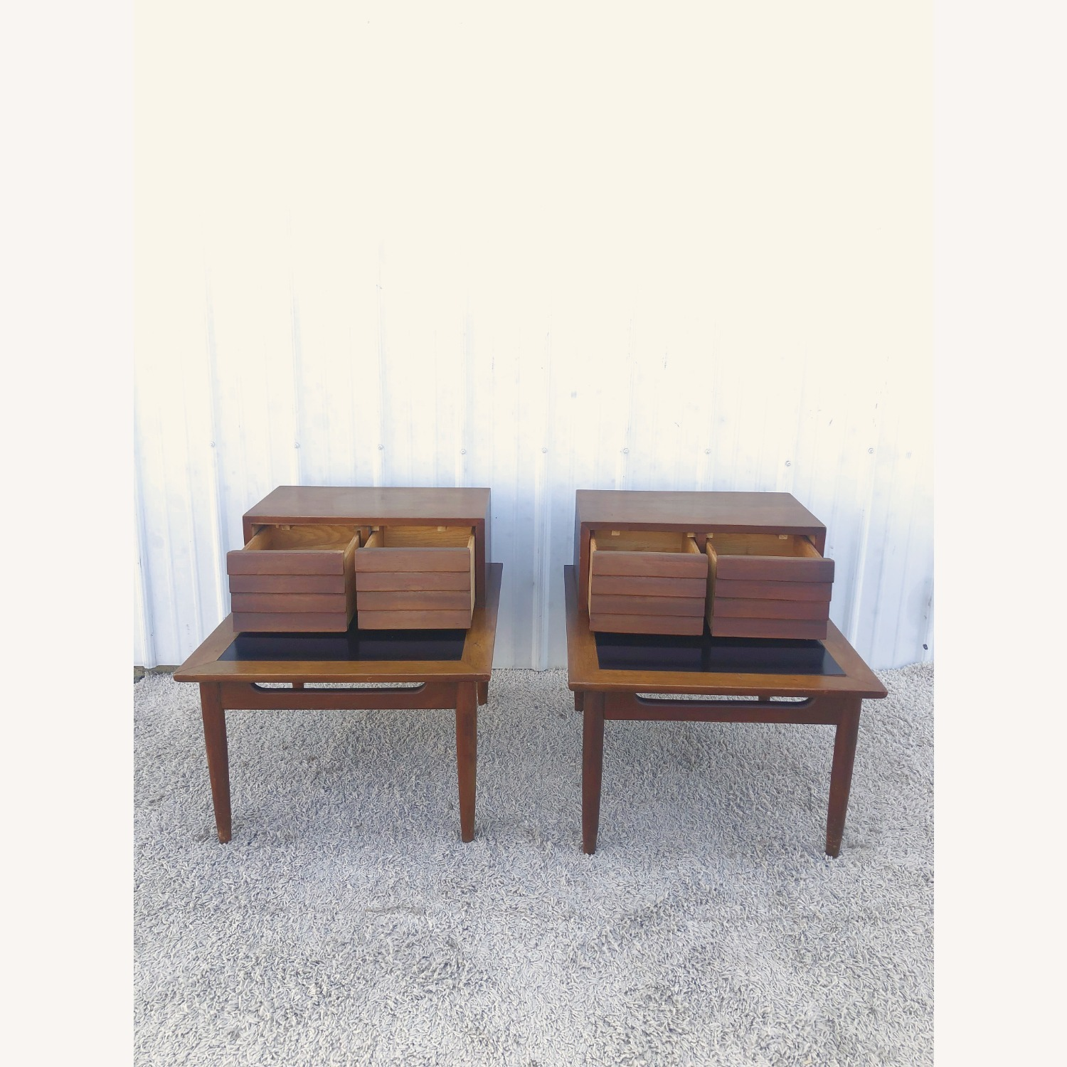 Pair Two Drawer MCM End Tables by Martinsvlle - image-10