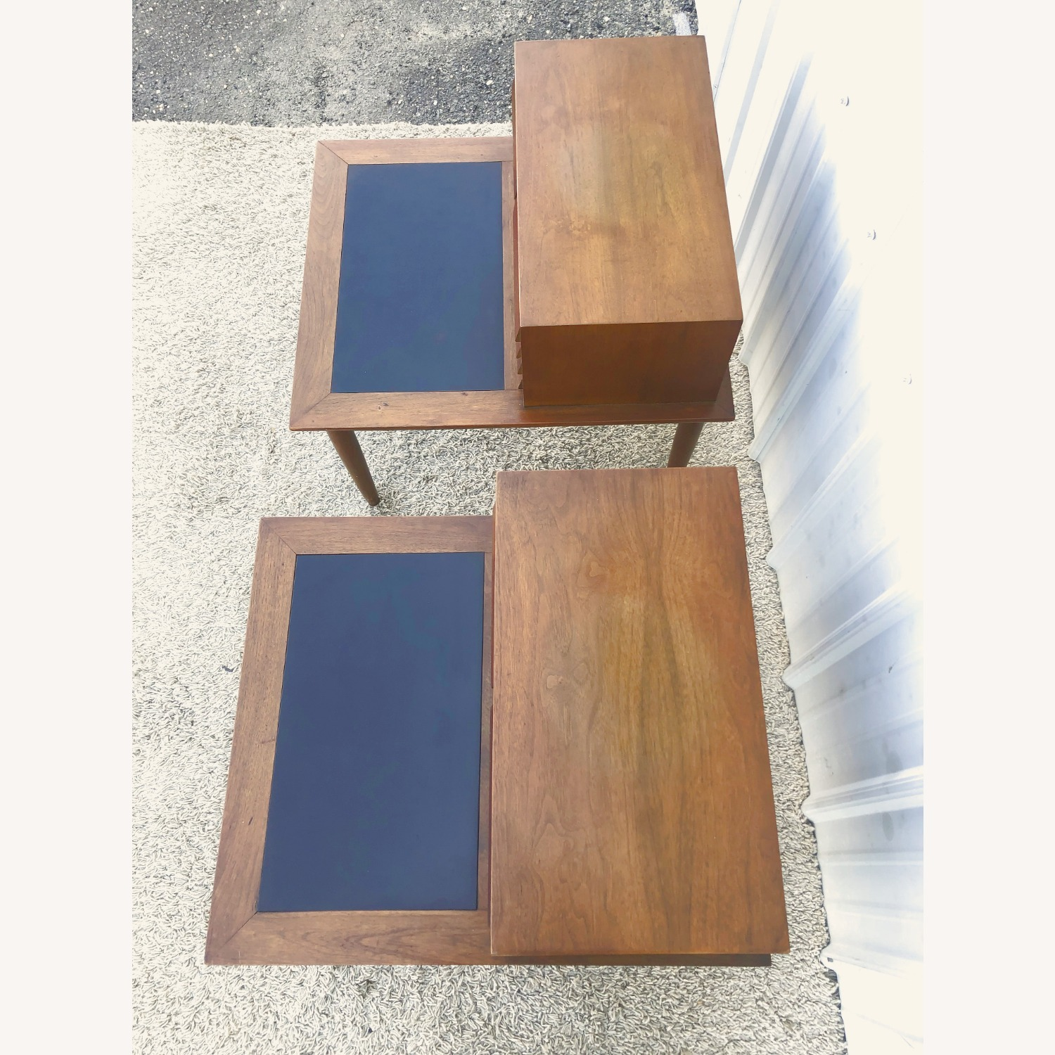 Pair Two Drawer MCM End Tables by Martinsvlle - image-5