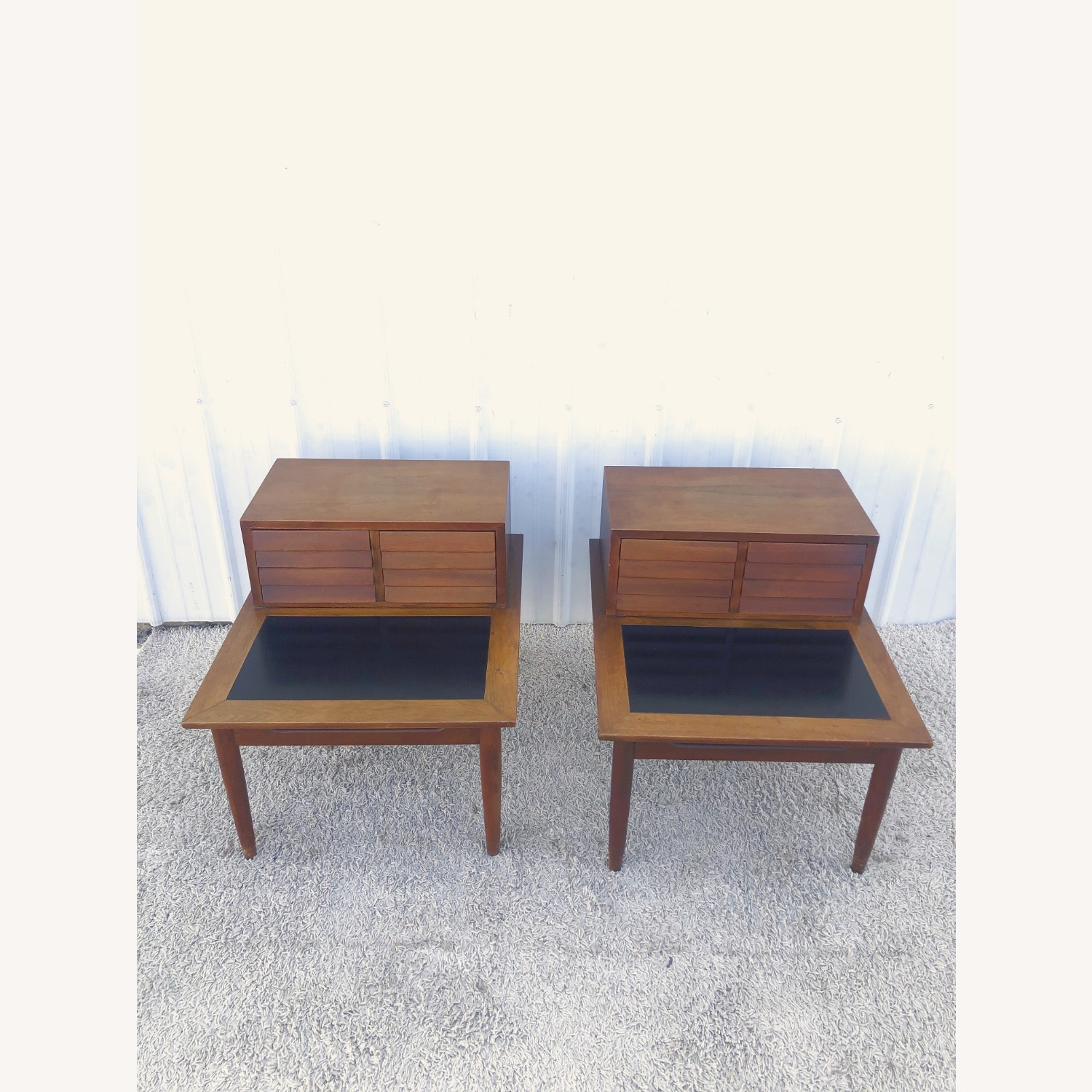 Pair Two Drawer MCM End Tables by Martinsvlle - image-3