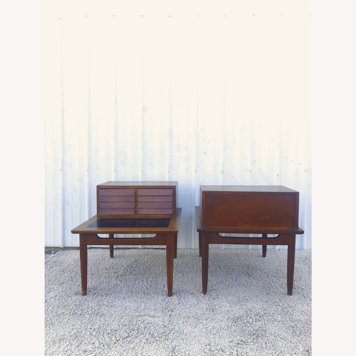 Pair Two Drawer MCM End Tables by Martinsvlle - image-16