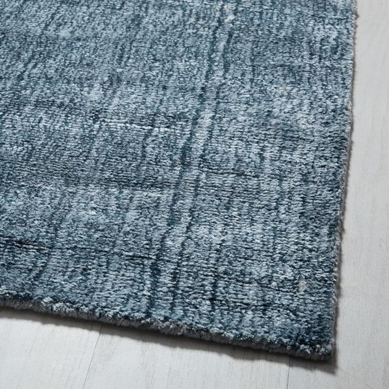 West Elm Echo Print Rug, Dusty Blue, 5'x8' - image-1