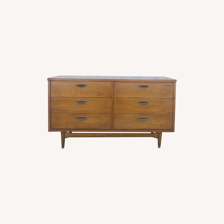 Mid Century Six Drawer Dresser - image-0
